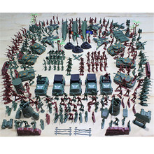 307Pcs Soldier Kit Grenade Tank Aircraft Rocket Army Men Sand Scene Model цена