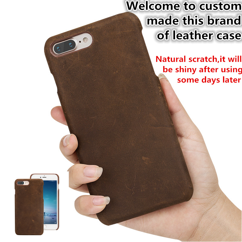 TZ13 Natural leather hard cover case for font b OnePlus b font font b 7 b