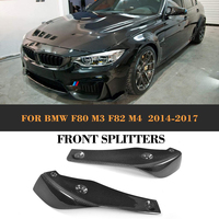 For BMW M3 M4 Carbon Fiber Front Bumper Lip Splitters Flaps Cupwings for BMW F80 M3 F82 F83 M4 Coupe Convertible 2014 2018