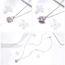 Heart Shaped Pendant Silver Necklace