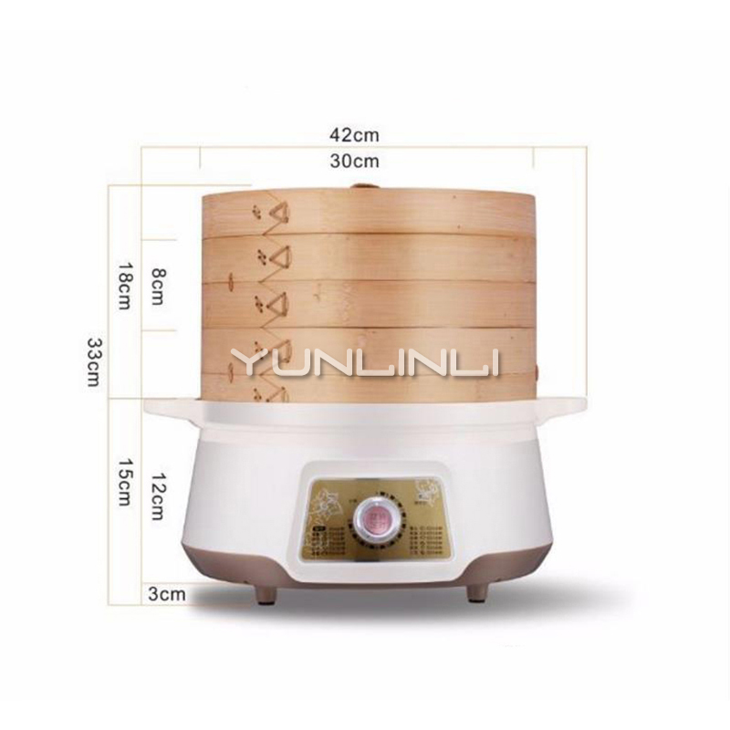 Electric Bamboo Steamer Household Electric Food Steamer 8L Large Capacity Bamboo Steamer ZMZQG-SS1681