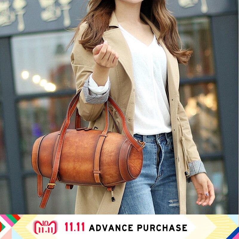Bucket genuine leather modis bag women's bag handbag bolsa feminina male luxury designer clutch canta shoulder belt