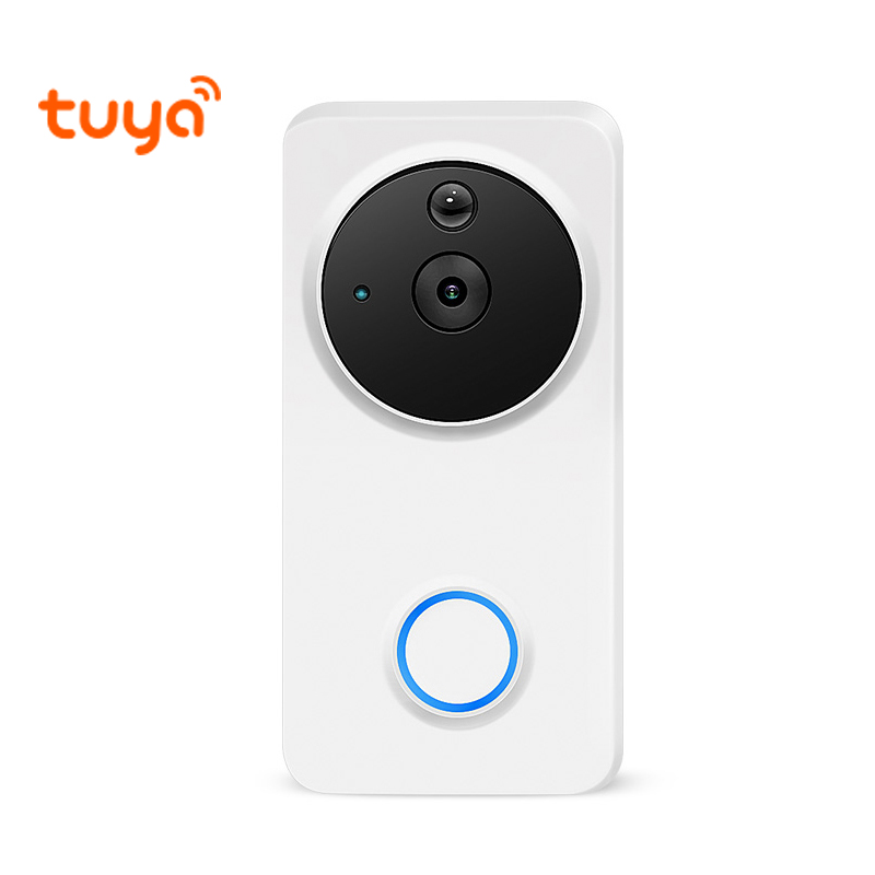 1080P Alexa Google Home IP54 Waterproof Outdoor Wireless Wi-Fi Wire-Free Smart Video Doorbell Intercom Camera WiFi Tuya