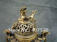Collectable Qing Dynasty copper Dragon Incense Stove\Censer,Decoration