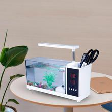 Multifunctional Underwater Light USB Mini Fish Tank Aquarium Lamp with Clock Function LED