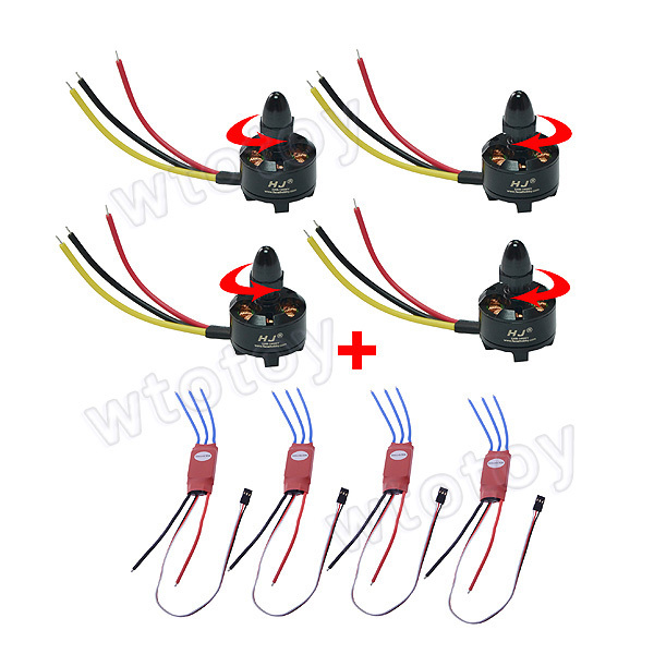 Simonk 30A ESC with HJ2208 1400KV Brushless Motor for RC Helicopter/RC Aircraft hj2208 1400kv high speed brushless motor for rc helicopter rc aircraft anticlockwise rotation