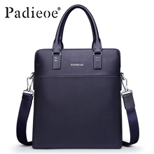 Padieoe Fashion Men Bag Genuine Leather Business Male Shoulder Messenger Bags