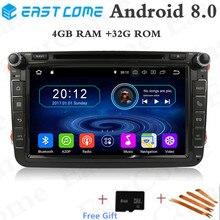 Android 8.0 Octa Core 4GB RAM Car DVD For Volkswage Golf 5 Passat Polo Tiguan Skoda Octavia Yeti Superb Seat Altea Car GPS Radio