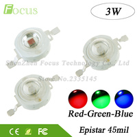 High Power LED Chip 3W Diode Red Green Blue COB SMD Bulb Lamp DIY LED Spotlight Floodlight Stage Lights For 3 Watt Light Beads