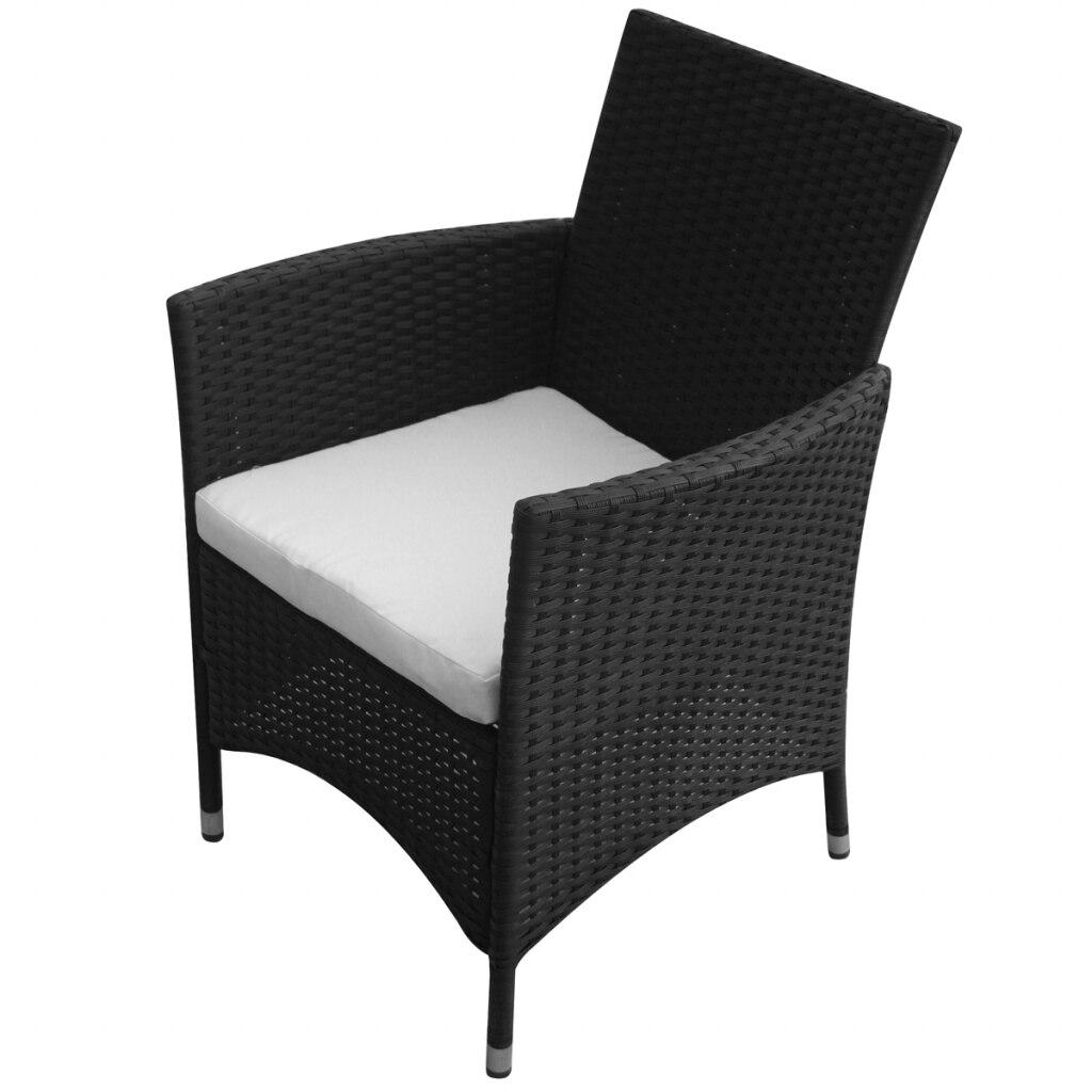 Tavolo 4 Sedie Da Giardino.Ikayaa Garden Furniture 9 Pieces Of Black Colored Synthetic Rattan