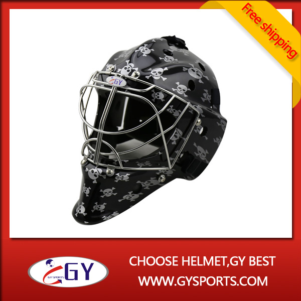 Ice Hockey Goalie Helmet Head Protective With Skull Printing Head