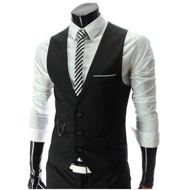 Hot Sale! 2015 Autumn Men's Slim Fit Dress Suit Vest Waistcoats, Men Gilet Colete Fashion chaleco Hombre, Brand New
