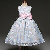 Formal Dress Prom Little Baby Girl Birthday Dress Fancy Butterfly Kids Girl Wedding Flower Girls Dress Princess Party Pageant