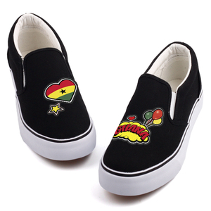Image 3 - E LOV クリエイティブポップアートアフリカ国ガーナ旗カスタマイズキャンバスシューズデザイナー Ghanaian プラットフォーム靴 Chaussures ファム