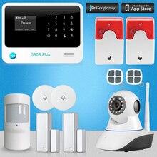 Chuangkesafe G90B Plus GSM/GPRS/SMS Sistema de Alarma de la Seguridad Casera Con Cámara IP Inteligente RFID Teclado Táctil de Control 2x Cable de Sirena