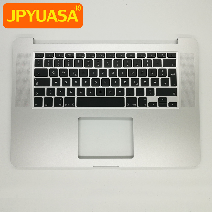 New Top Case Palmrest With German Germany Keyboard + Backlight For Macbook Pro 15 A1398 Retina 2015 Year new topcase with tr turkish turkey keyboard for macbook air 11 6 a1465 2013 2015 years
