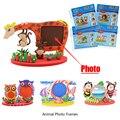 Quadro de Espuma Kits de Artesanato Artesanato Fácil EVA Pegajoso Adesivo Atividade Criativa Animal Photo Frames Crianças Criança DIY Brinquedos