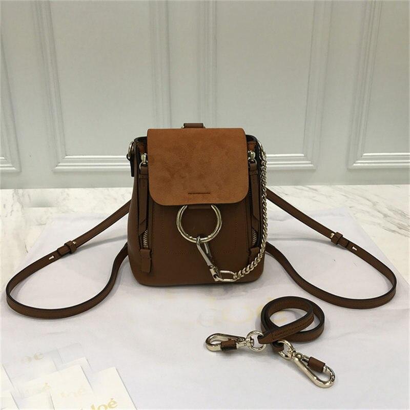 New Arrival Genuine Leather Women's Bag Ring Bag Backpack Shoulder Casual Shoulder Multifunctional Backpack