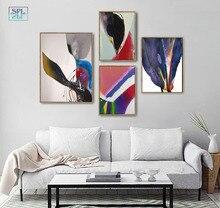 Màu Nước Canvas Nghệ Thuật In Mực Tranh Trừu Tượng Trung Quốc Đồ Bộ Tác Phẩm Nghệ Thuật Áp Phích Hiện Đại Trang Trí Nhà Treo Tường Hình Ảnh