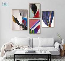 Watercolor Canvas Art Print Ink Painting Abstract Chinese Graffiti Artwork Posters Modern Fashion Home Decoration Wall Pictures