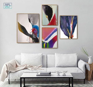 Image 1 - Watercolor Canvas Art Print Ink Painting Abstract Chinese Graffiti Artwork Posters Modern Fashion Home Decoration Wall Pictures