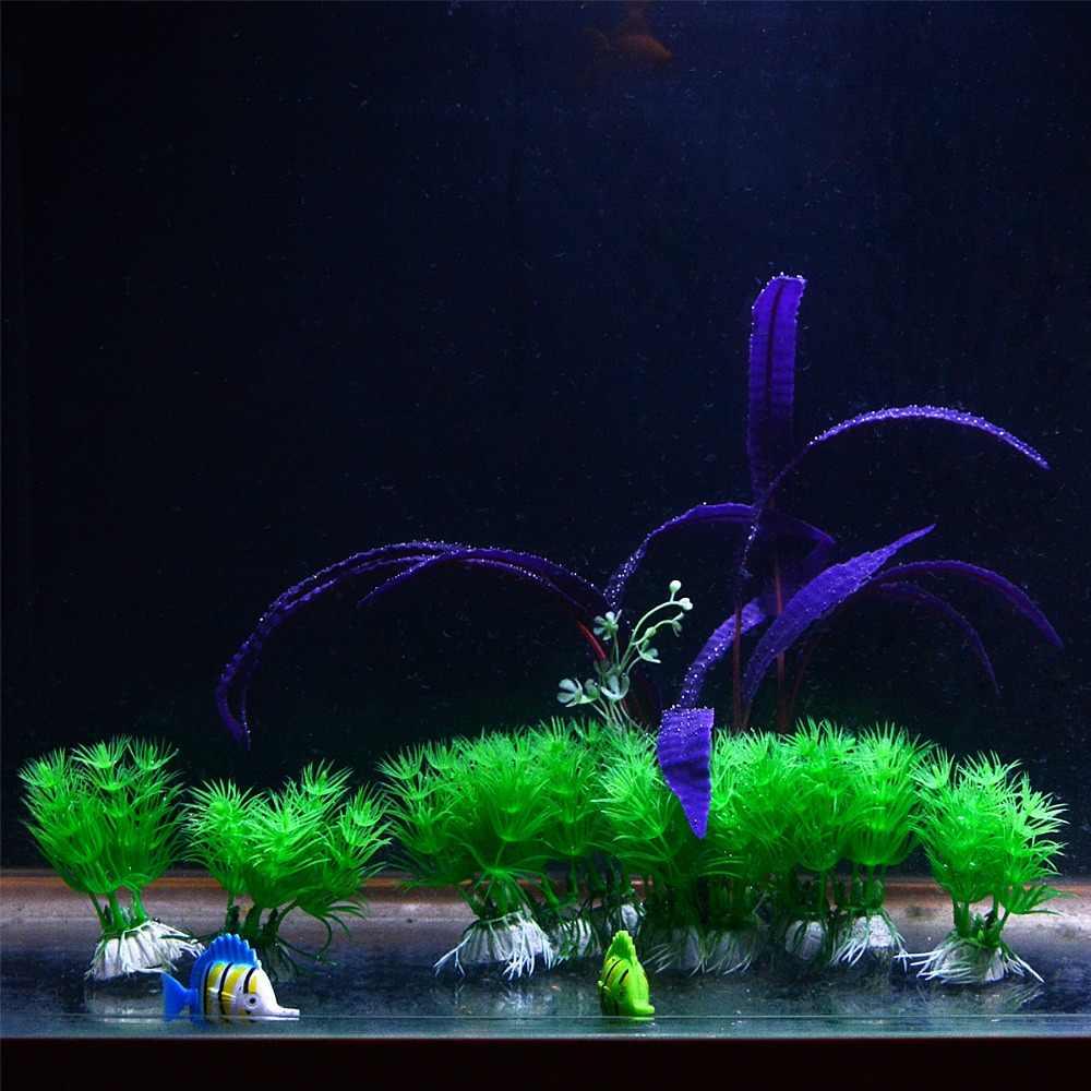 UEETEK 3 Pcs Artificial Plastic Underwater Plant Green Moss for Aquarium Fish Tank Decorations