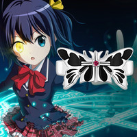 Anime Love Chunibyo Other Delusions Takanashi Rikka Butterfly Ring 925 Sterling Silver Costume Props Gift New