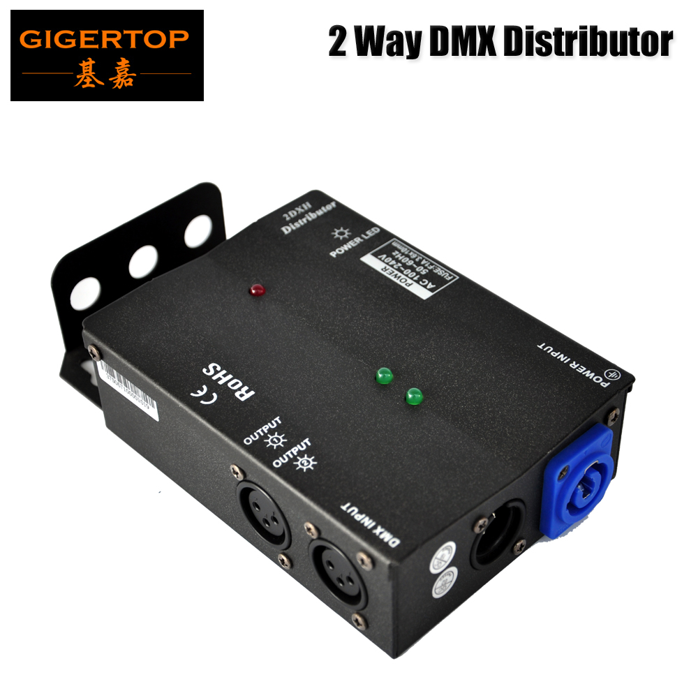 New Arrival Multiple Installation Methods 2 Channel DMX Distributor High Voltage Protection Independent Input and Output Signal