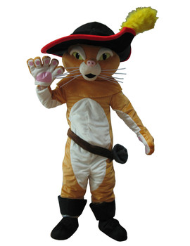 Adult Puss The Boots Cat Mascot Costume Party Costumes Carnival Costumes Fancy Dress Costumes Free Shipping