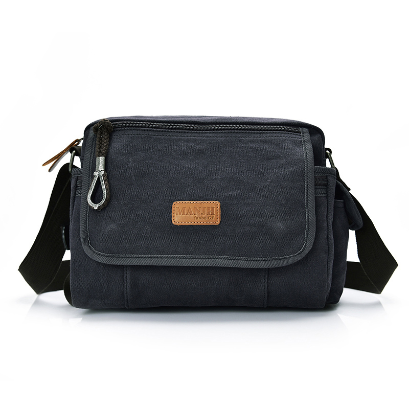 New Fashion Canvas Small Messenger Bag Men Casual Crossbody Bags For Men Satchel Leisure Male Shoulder Sling Bags For Men 1380 japanese pouch small hand carry green canvas heat preservation lunch box bag for men and women shopping mama bag