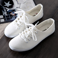 Free Shipping Women Fashion Canvas Shoes Lace-up Casual Shoes Flat Canvas Outdoor Shoes Size 35~39