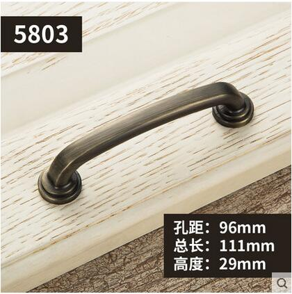 Furniture Knobs European Cabinet Knobs and Handles Simple Kitchen Handles Drawer Pulls Door Bronze Handles YJ5803 1pc simple european aluminum alloy ivory white door handles