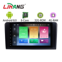 LJHANG 9 Inch Android 8.0 Car Multimedia Player For Mercedes Benz GL ML CLASS W164 ML350 ML500 X164 4G+32G GPS Radio Steer Wheel