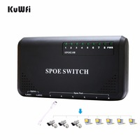 KuWFi 90W 8 Port PoE Switch 10/100Mbps POE Switch Power Ethernet For IP Camera Network Switch Phone Devices Wirelss AP Setting