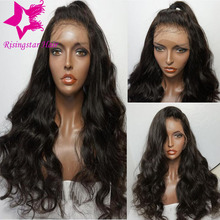 Full lace human hair wigs for black women unprocessed virgin brazilian wavy lace front wig glueless full lace wig with baby hair