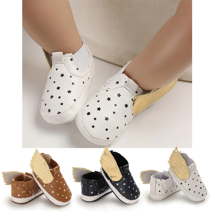 Newborn Infant Baby Kids Shoes Toddler Boy Wing Soft Sole Crib Shoes  Prewalker Anti-slip Sneakers Summer Autumn 0-18M