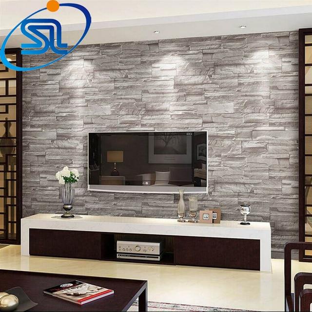 Gratis verzending 3D behang steen baksteen ontwerp achtergrond muur ...