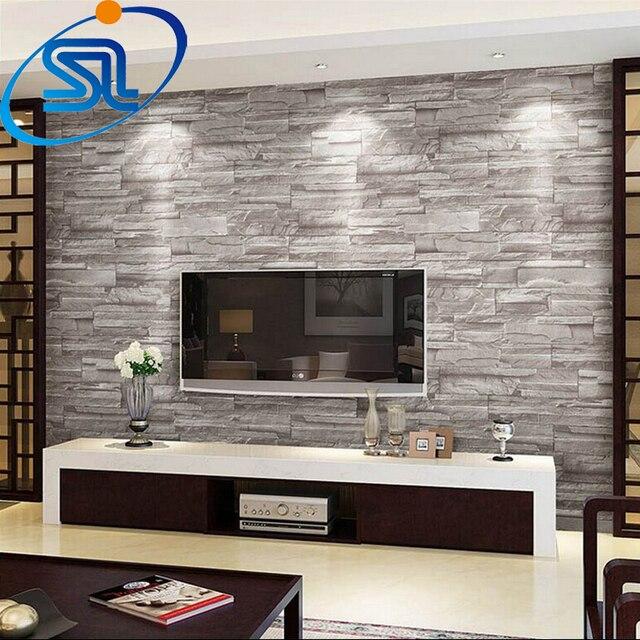 Gratis verzending 3D behang steen baksteen ontwerp achtergrond ...