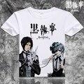 Camiseta de manga curta dos desenhos animados do anime black butler sebastian michaelis t-shirt traje cosplay clothing frete grátis