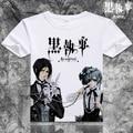 Sebastian michaelis anime negro mayordomo camiseta de dibujos animados manga corta t-shirt cosplay clothing envío gratis