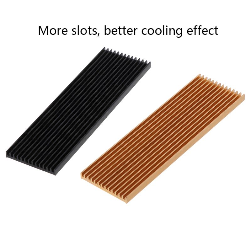 N80 NVME NGFF M.2 2280 PCIE SSD Cooling Aluminum Sheet Heat Sink Ultra-thin Thermal Pad Heat Dissipation Radiator