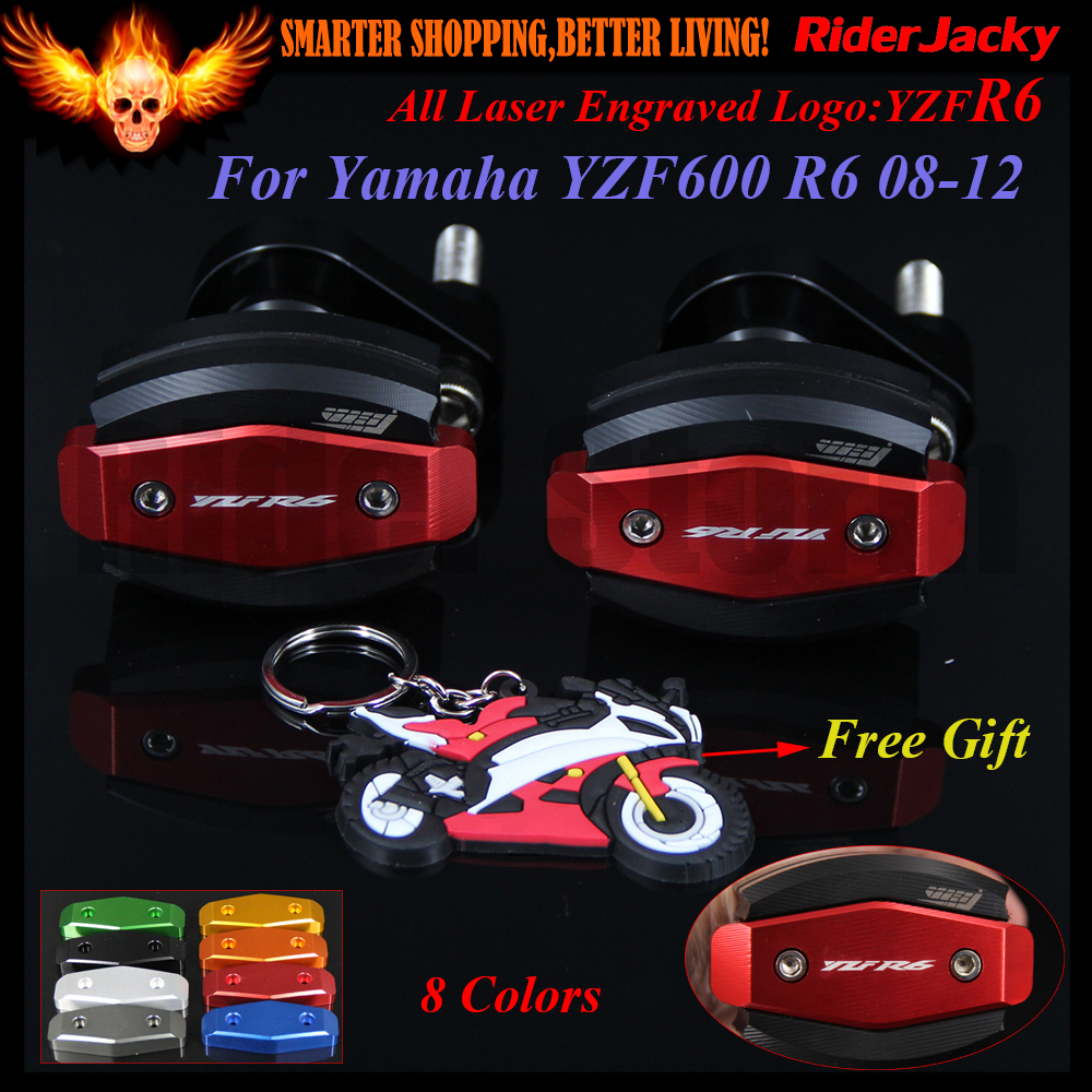 For Yamaha YZF600 R6 2008-2012 2009 2010 2011 2012 08-12 09 10 11 CNC Motorcycle Frame Crash Slider Protector Drop resistance