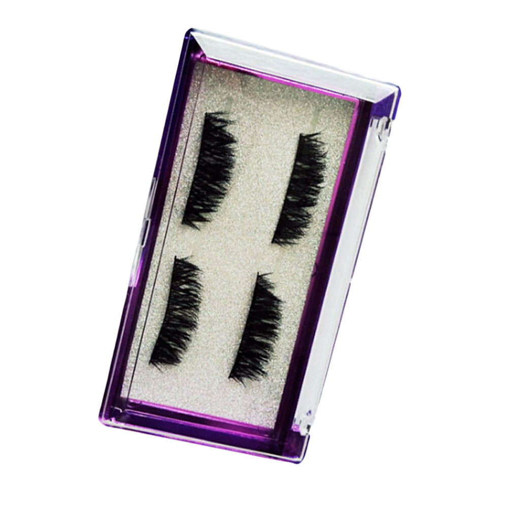 Fashion 4 Pcs Lashes/Pair 3D Mink Full Strip Pure Mink Magnetic False Eyelashes Double Magnetic No Glue Lashes Extention