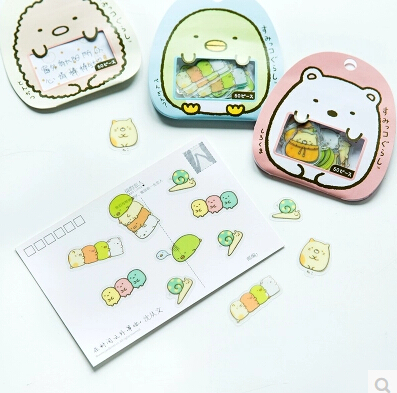 цены Cute Sumikko Gurashi Diary Label Stickers Pack Decorative Mobile Stickers Scrapbooking DIY Stickers Escolar Papelaria