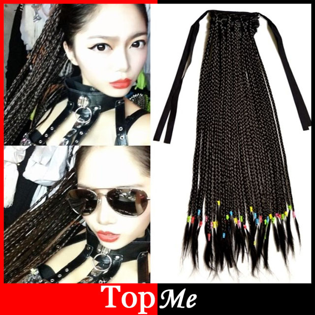 Aliexpress buy fashion women synthetic plaits ponytails fashion women synthetic plaits ponytails bohemia style hair extensions long straight woman one piece braids pony pmusecretfo Gallery