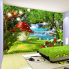 Custom 3D Photo Wallpaper For Kids Room Cartoon Children Room Green Forest Decoration Mural Backdrop Wallpaper