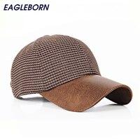 2016 Man Baseball Cap With PU Visor Snapback Hat Cap Casual Solid Hat Spring Summer Autumn