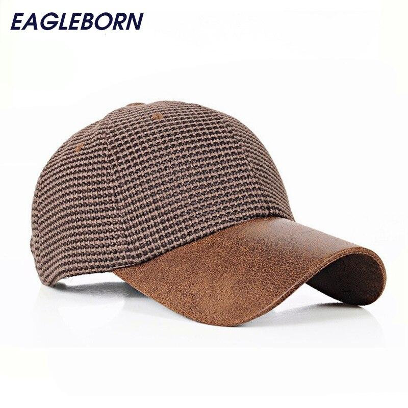 Prix pour 2017 marque baseball cap femmes chapeaux pour hommes knited snapback femmes hommes casquettes PU visière papa chapeau os casquette de gorras mujer