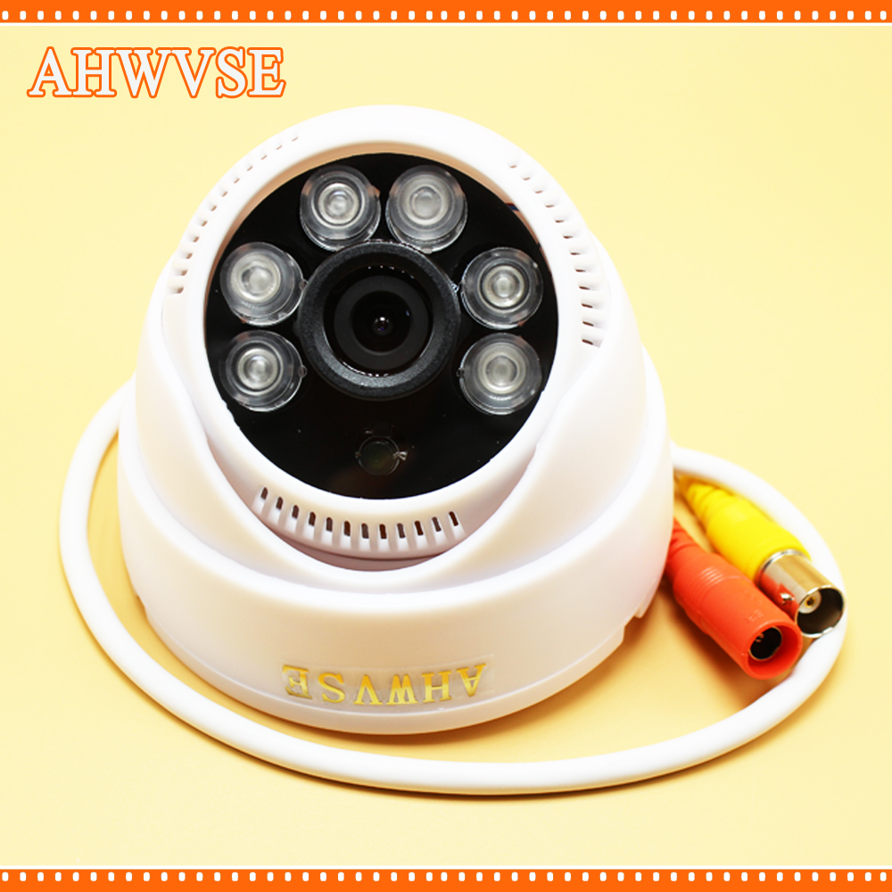 AHWVSE 4x Wide Angle Surveillance Security Camera 6 Big LED IR Color 960P 720P Indoor Dome CCTV AHD Camera 1080P 2MP wide angle 700 tvl 24pcs ir led color indoor dome cctv security camera cmos security camera 700tvl for dvr system