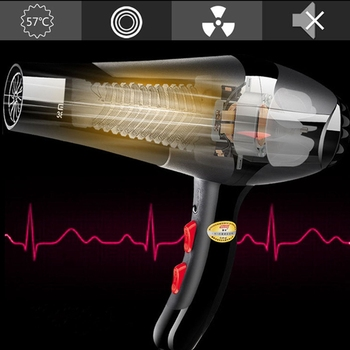2400W เครื่องเป่าผมไฟฟ้ามืออาชีพ Salon ความเร็ว 3 ความร้อน 2 Hairdressing Blow EU Plug